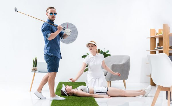 Das Beweisfoto, dass du mehr Frauen flach legst, wenn du Golf spielst